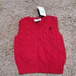Babies V-neck Ralph Lauren sweater